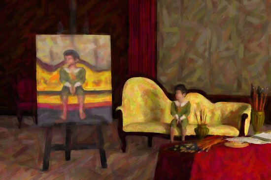The Artist's Studio - A Portrait of a Boy by Liam Liberty