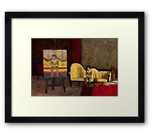 The Artist's Studio - A Portrait of a Boy Framed Print