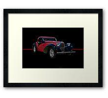 1937 Bugatti Type 57 SC Atalante Coupe w/o ID Framed Print
