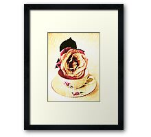 Old Cup & Vintage Rose. Framed Print
