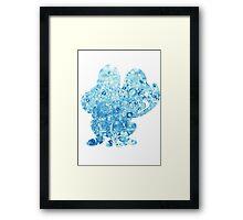 Froakie used Bubble Framed Print