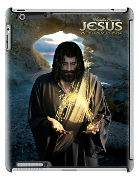 Jesus: I Am the light of the world (iPad Case) by Angelicus
