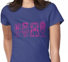 ROBOTS > HOT PINK Womens Fitted T-Shirt