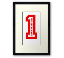 Ready Player One Number Red Framed Print