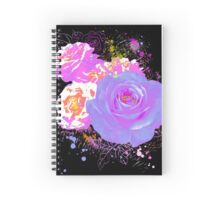 Wild Colorful Roses Spiral Notebook