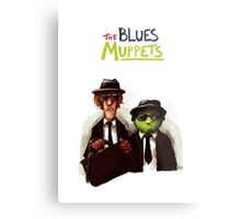 The Blues Muppets Metal Print