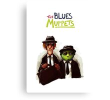The Blues Muppets Canvas Print