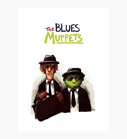 The Blues Muppets Photographic Print