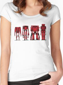 ROBOTS > SOLID RED Women's Fitted Scoop T-Shirt
