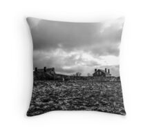 Dark winter clouds Throw Pillow