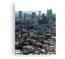 L.A blocks Canvas Print