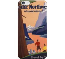 Vintage poster - Pacific Northwest iPhone Case/Skin