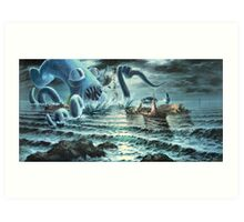Kraken Attack! Art Print