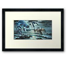 Kraken Attack! Framed Print