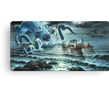 Kraken Attack! Canvas Print
