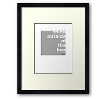 think out side the box (design) Framed Print