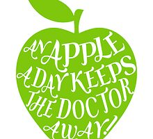 green apple with word art by beakraus