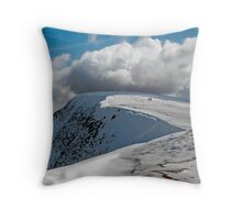 Almost there on the footpath to Helvellyn Lake District Throw Pillow