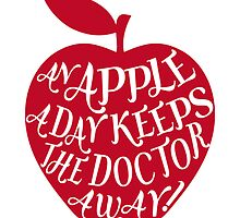 red apple with word art by beakraus
