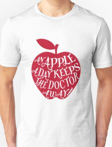 red apple with word art T-Shirt