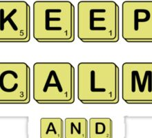 Keep Calm And Play Board Games Sticker