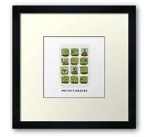 Protect Wildlife Framed Print