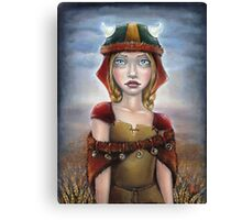 Viking Girl Canvas Print