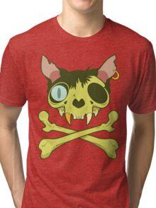 Kitty Krossbones Tri-blend T-Shirt