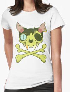 Kitty Krossbones Womens Fitted T-Shirt