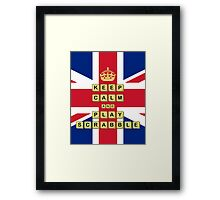 Keep Calm And Play Board Games Framed Print