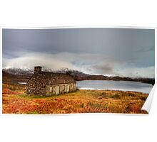 Winter scene at Loch Stack, Scotland Poster