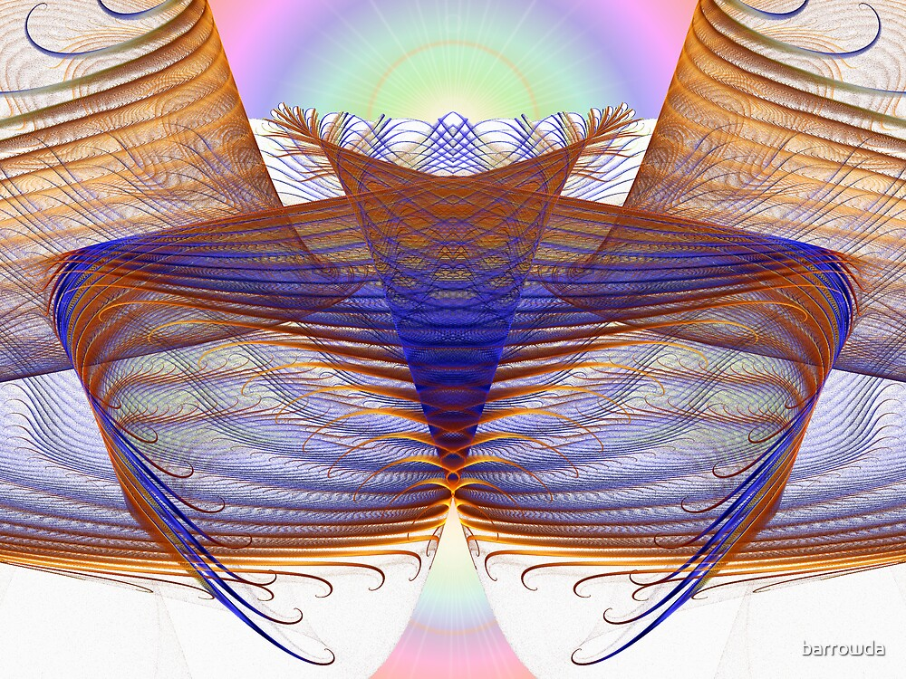 Tut53SMO#8: Feathers with Pastel Sunrise (G1093) by barrowda