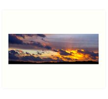 Newhaven Sunset Art Print