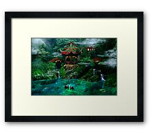 Tale of the Red Swans Framed Print
