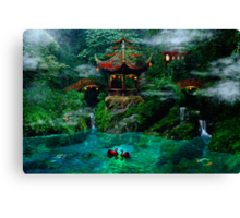 Tale of the Red Swans Canvas Print