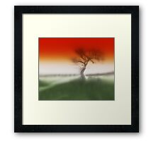 She Stands Alone - To Greet The Apocolyps Framed Print