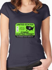 Zombie Hunting Permit 2013/2014 Women's Fitted Scoop T-Shirt