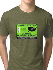 Zombie Hunting Permit 2013/2014 Tri-blend T-Shirt