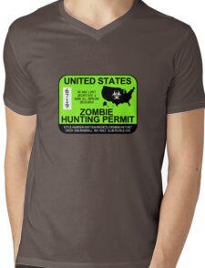 Zombie Hunting Permit 2013/2014 Mens V-Neck T-Shirt