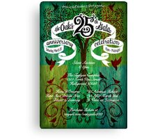 The Oaks School 25th Anniversary Poster Canvas Print