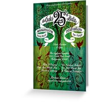 The Oaks School 25th Anniversary Poster Greeting Card