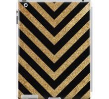 Black and gold chevron iPad Case/Skin