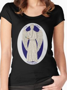 The angel's got the screwdriver! Women's Fitted Scoop T-Shirt