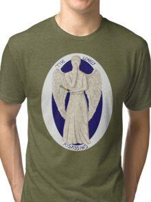 The angel's got the screwdriver! Tri-blend T-Shirt