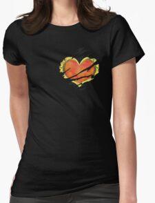 Heart Container tearing through shirt = Dark Heart Womens Fitted T-Shirt