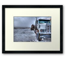 Big old Freightliner. Framed Print