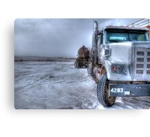 Big old Freightliner. Canvas Print