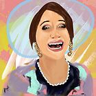 The Lizzie Bennet Diaries/ Lizzie As Mrs Bennet / Digital Painting  by Jessica Slater