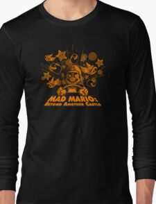 Mad Mario: Beyond Another Castle Long Sleeve T-Shirt