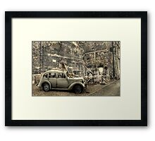 Bomb Damage  Framed Print